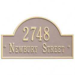 Whitehall Arch Marker Plaque Taupe Ivory