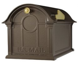 Whitehall Balmoral Post Mount Mailbox Bronze