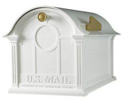 Whitehall Balmoral Post Mount Mailbox White