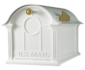 Whitehall Balmoral Post Mount Mailbox White