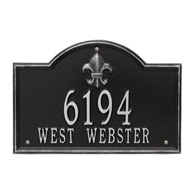 Whitehall Bayou Vista Plaque Black Silver