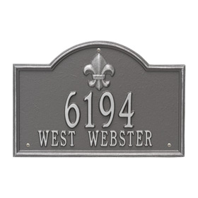 Whitehall Bayou Vista Plaque Pewter Silver