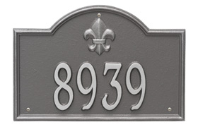 Bayou Vista Plaque One Line Standard