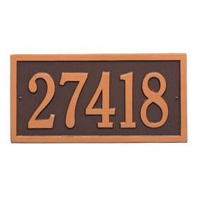 Whitehall Bismark Address Plaque Antique Copper