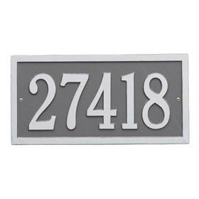 Whitehall Bismark Address Plaque Pewter Silver