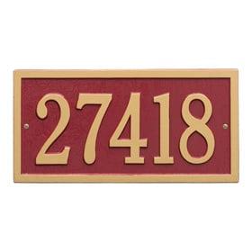 Whitehall Bismark Address Plaque Red Gold