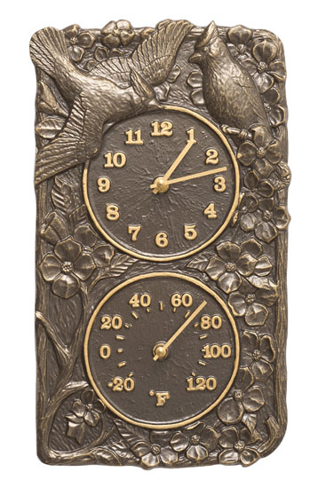 Whitehall Cardinal Clock And Thermometer