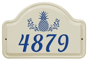 Whitehall Pineapple Arch Plaque Blue