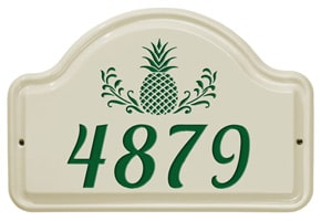 Whitehall Pineapple Arch Plaque Green