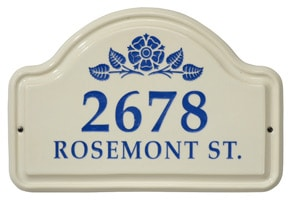 Whitehall Rosetta Arch Plaque Blue