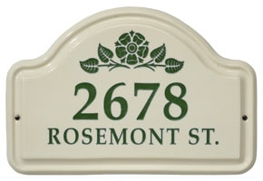 Whitehall Rosetta Arch Plaque Green