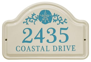 Whitehall Sand Dollar Arch Plaque Sea Blue
