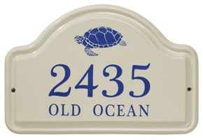 Whitehall Turtle Arch Plaque Dark Blue