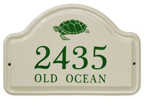 Whitehall Turtle Arch Plaque Green