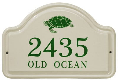 Whitehall Turtle Arch Ceramic Address Plaque