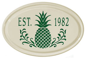 Whitehall Pineapple Petite Oval Plaque Green