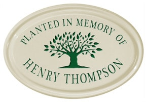 Whitehall Tree Memorial Oval Plaque Green