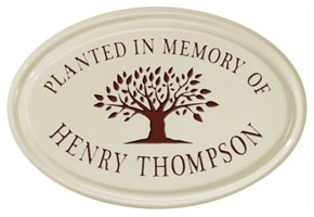 Whitehall Tree Memorial Oval Plaque Red