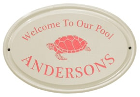 Whitehall Turtle Oval Plaque Coral