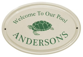 Whitehall Turtle Oval Plaque Green