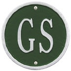 Whitehall Address Plaques Green With Silver