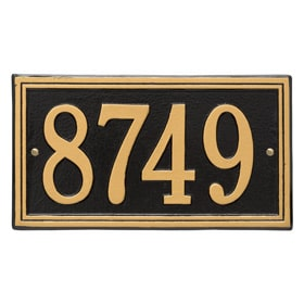 Whitehall Double Line Plaque Black Gold