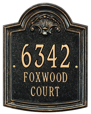 Whitehall Elderwood Address Plaque