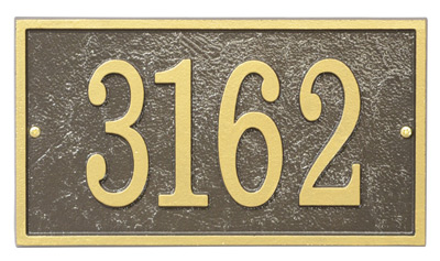 Whitehall Fast And Easy Rectangle Address Plaques