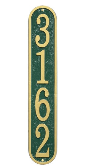 Whitehall Fast And Easy Vertical Address Plaques