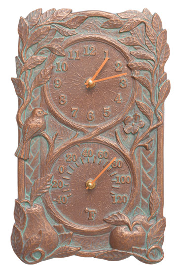 Whitehall Fruit Bird Clock And Thermometer