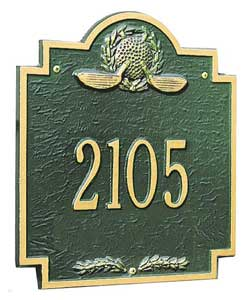 Whitehall Golf Greens Plaque One Line
