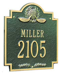 Whitehall Golf Emblem Address Plaque