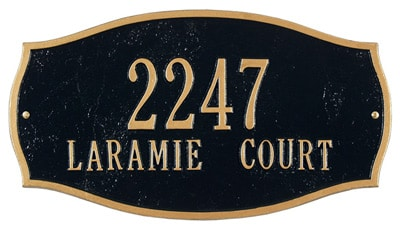 Whitehall Laramie Address Plaque
