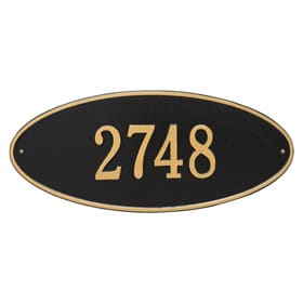 Whitehall Madison Oval Plaque Black Gold