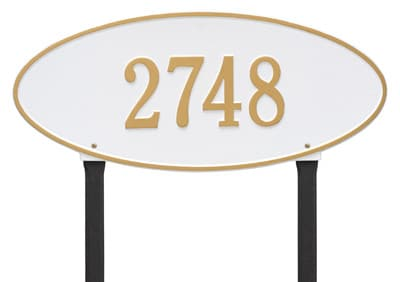 Whitehall Madison Oval Lawn Marker Address Plaque Product Image