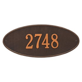 Madison Oval Plaque Oil Rubbed Bronze