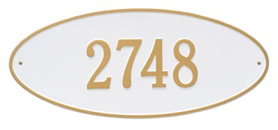 Whitehall Madison Oval Aluminum Address Plaque
