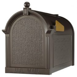 Whitehall Decorative Post Mount Mailboxes Bronze