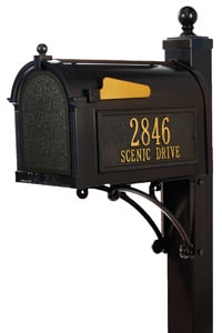 Whitehall Post Mount Mailboxes Deluxe Post