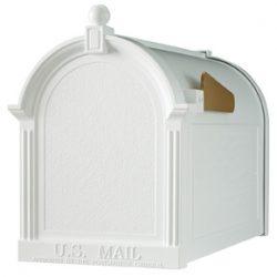 Whitehall Decorative Post Mount Mailboxes White