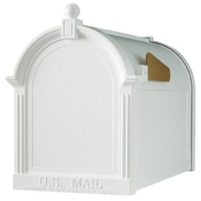 Whitehall Decorative Post Mount Mailboxes White