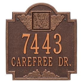 Whitehall Monogram Address Plaque Antique Copper