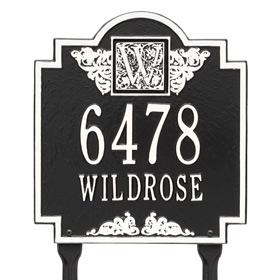 Whitehall Monogram Lawn Marker Black White