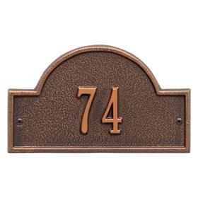 Whitehall Arch Marker Petite Antique Copper