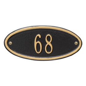Whitehall Madison Petite Plaque Black Gold
