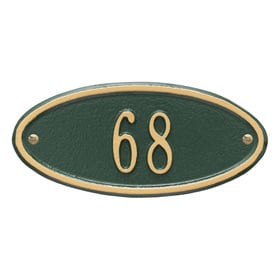 Whitehall Madison Petite Plaque Green Gold