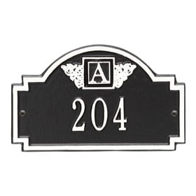 Whitehall Monogram Petite Plaque Black White