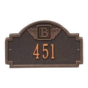 Monogram Petite Plaque Oil Rubbed Bronze