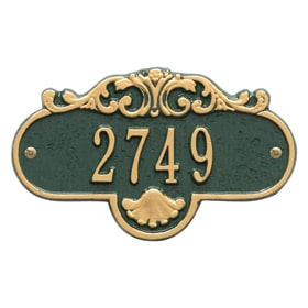 Whitehall Rochelle Petite Plaque Green Gold