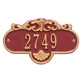 Whitehall Rochelle Petite Plaque Red Gold